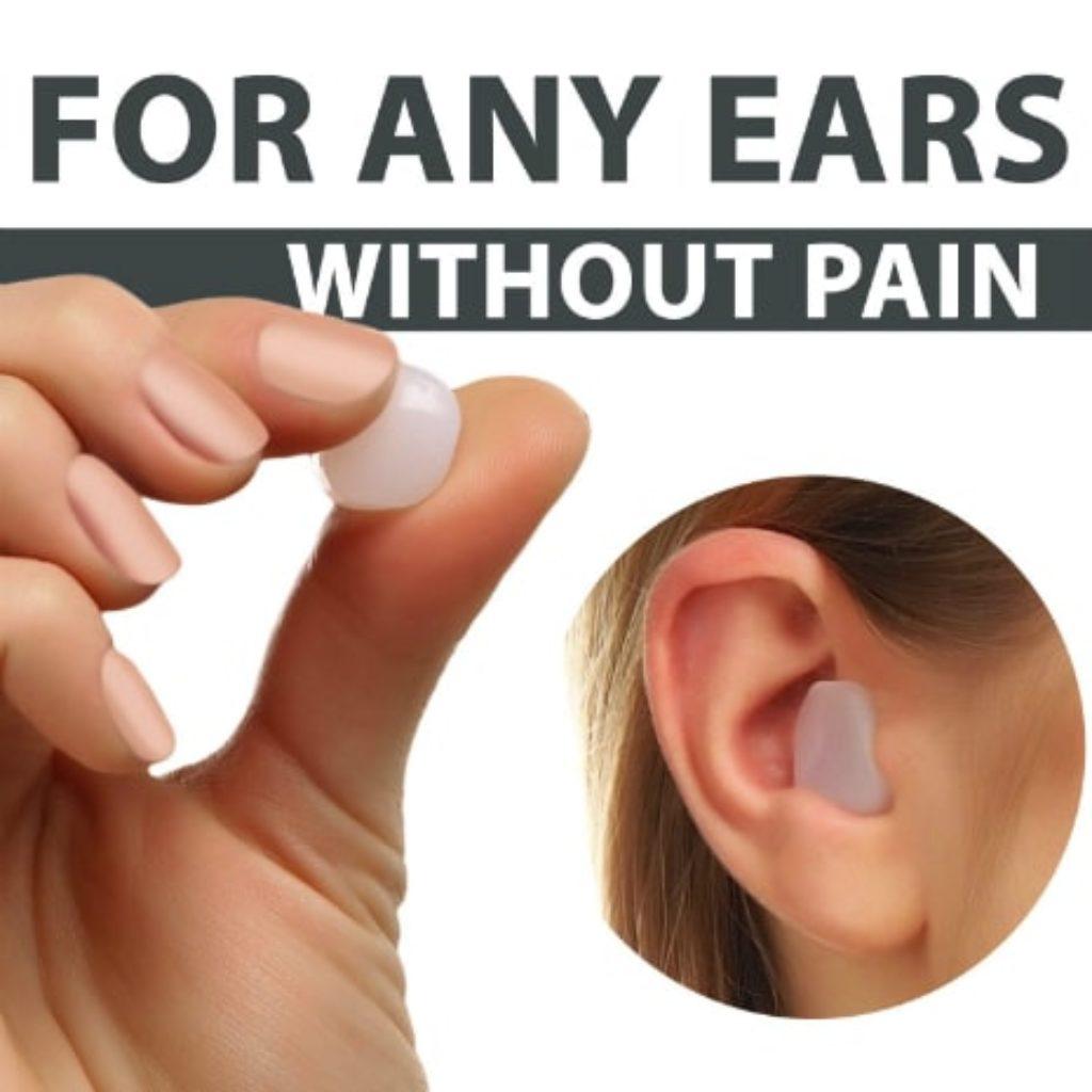 Moldable Wax PQ Earplugs in the ear