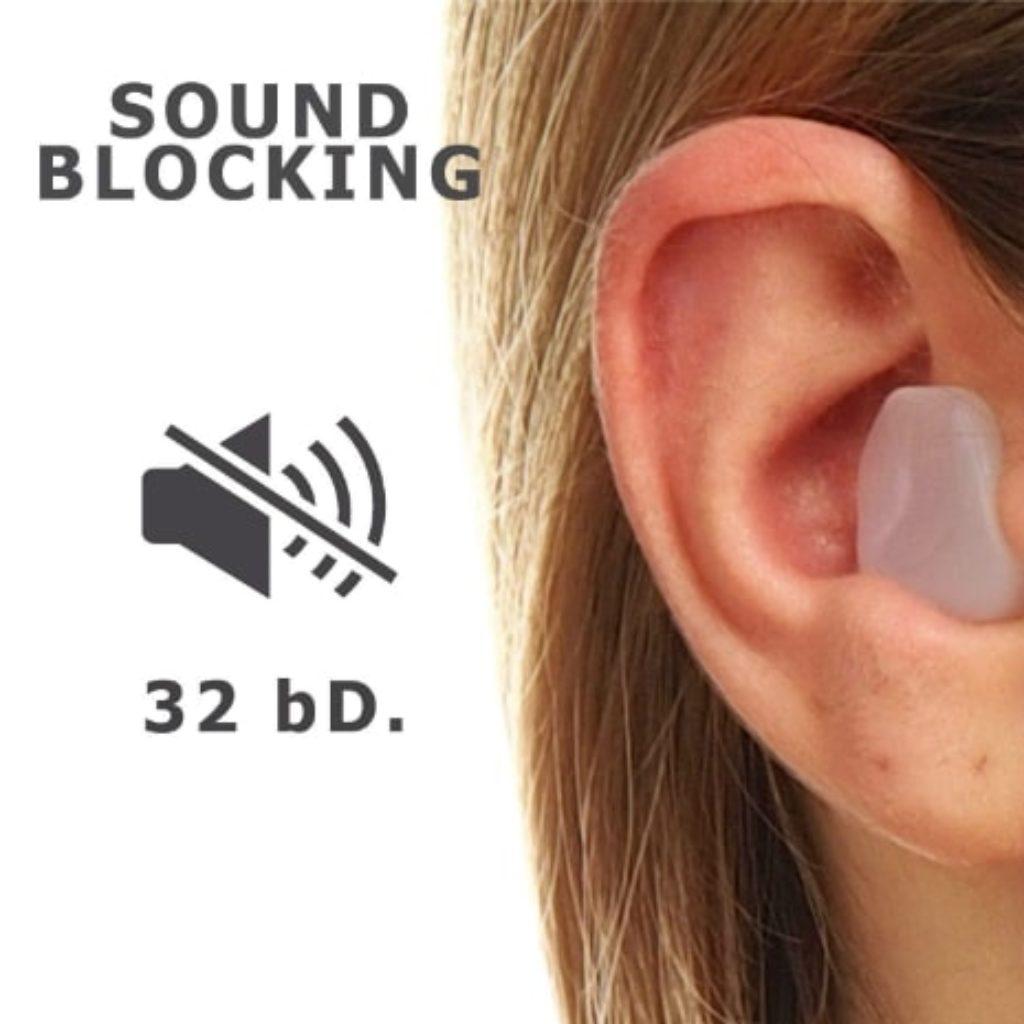 Moldable Wax PQ Earplugs sound blocking level 32 bD