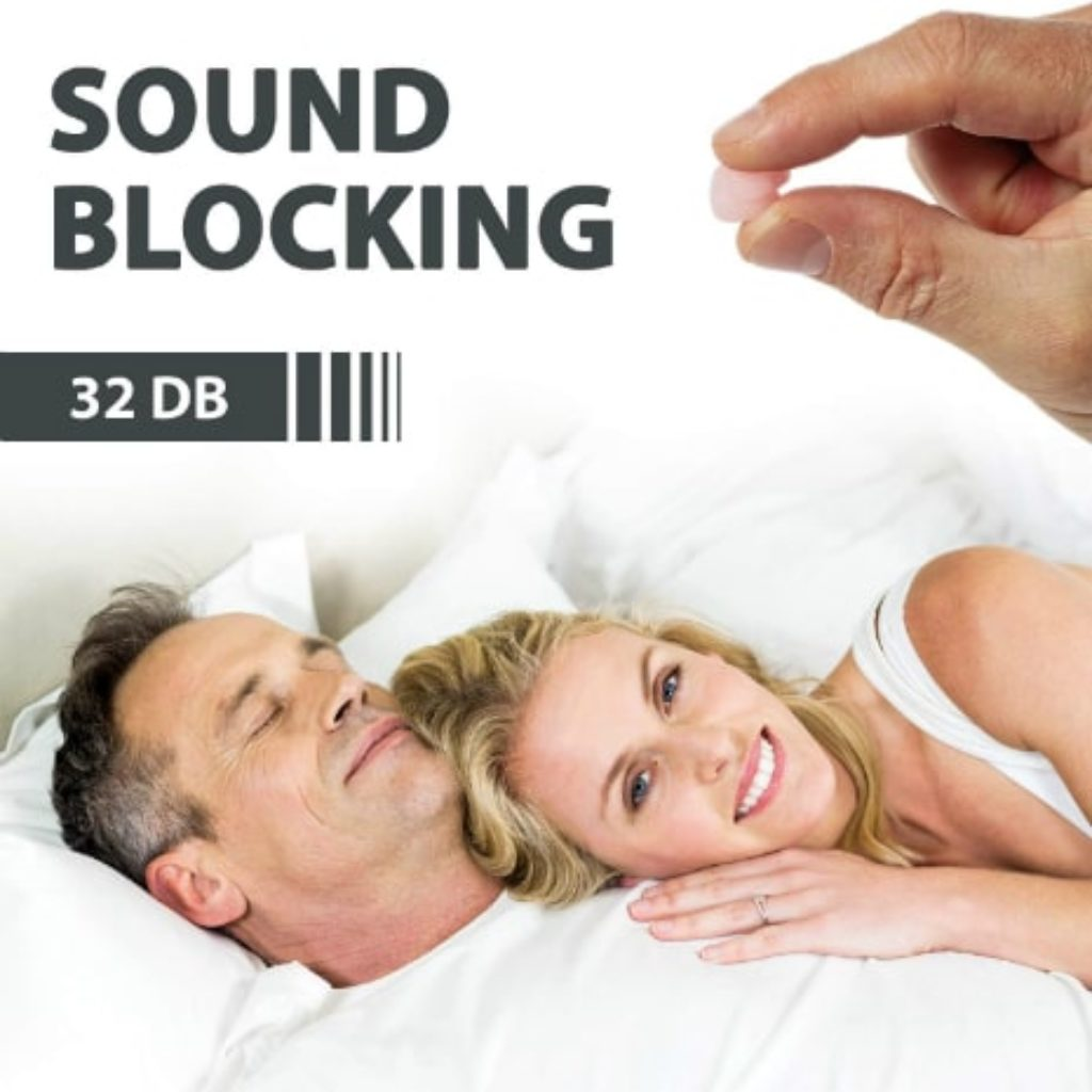 PQ Earplugs for Sleeping and Swimming sound blocking level 32 bD