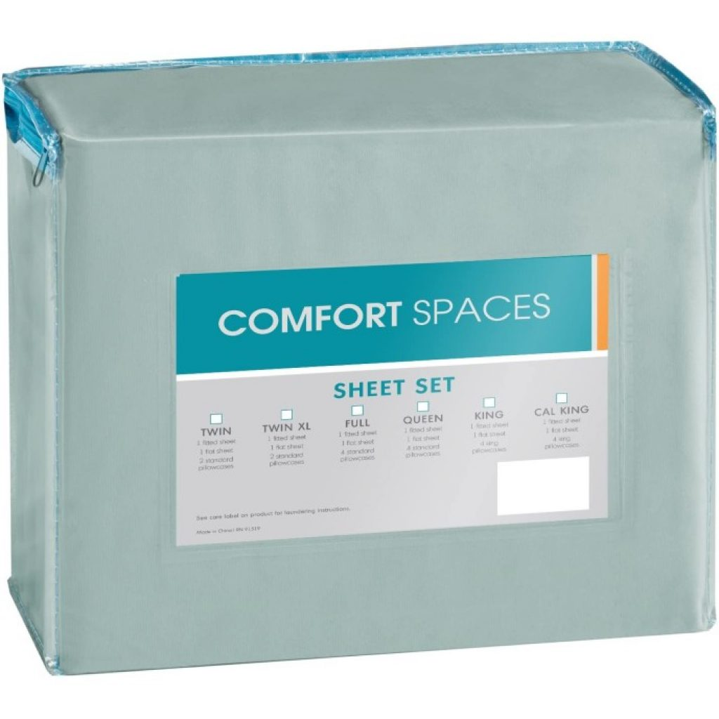 Comfort Spaces Coolmax Moisture Wicking Bed Cooling Sheets packed