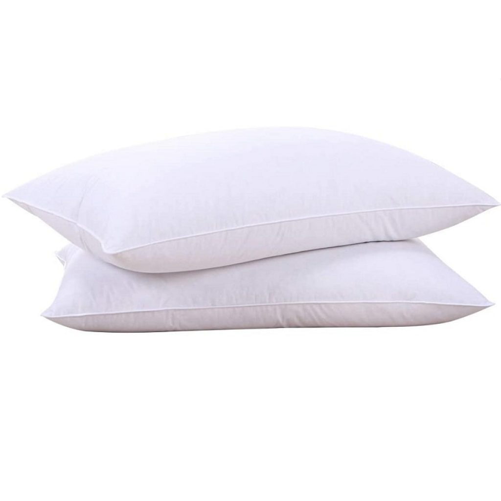 PureDown Natural Goose Down Feather White Pillow