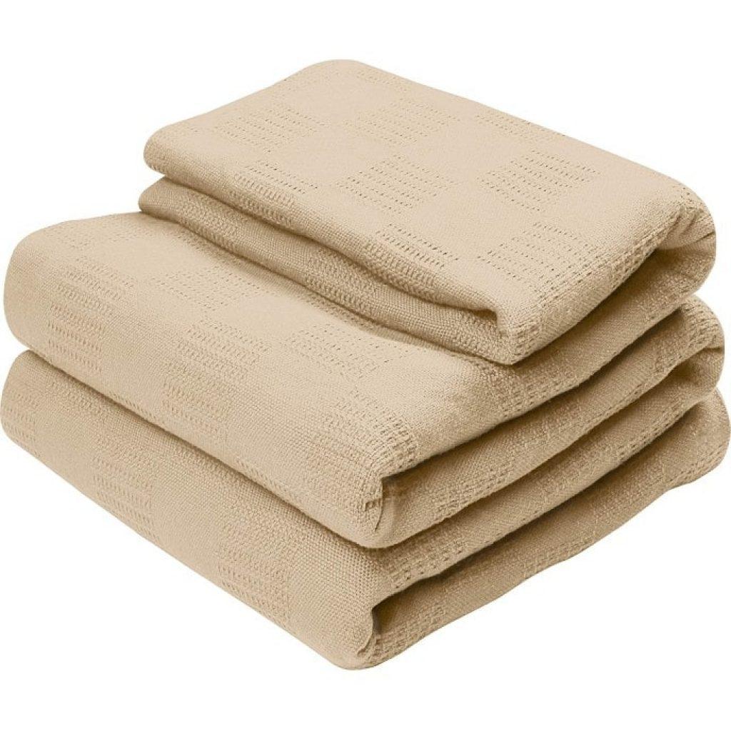 Utopia Bedding Premium Summer Cotton Blanket Queen Beige