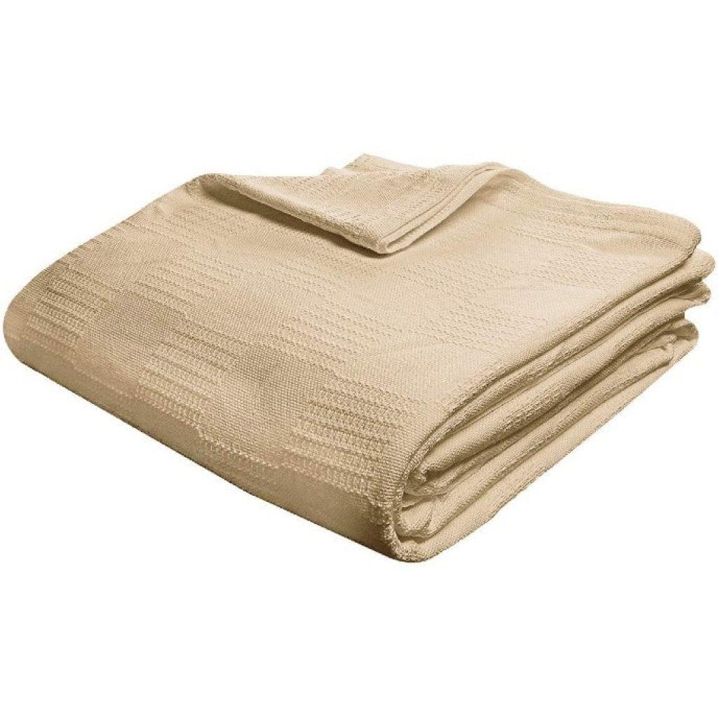 Utopia Bedding Premium Summer Cotton Blanket Queen Beige side view