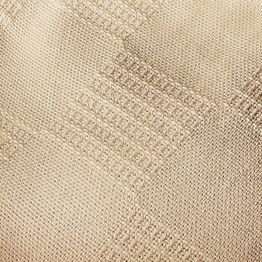 Utopia Bedding Premium Summer Cotton Blanket Queen Beige texture