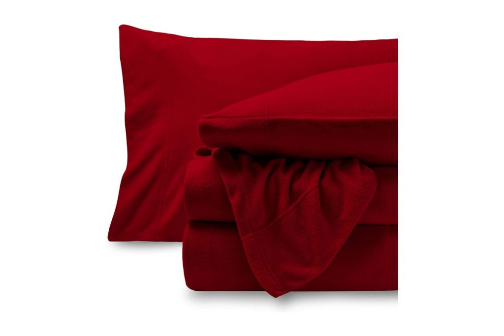 Bare Home Super Soft Fleece Sheet Set close view