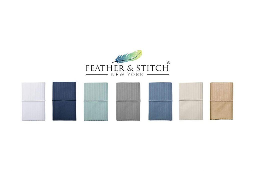 FEATHER & STITCH NEW YORK Best Hotel Luxury Bedding 3-Piece Duvet Cover Set сolors