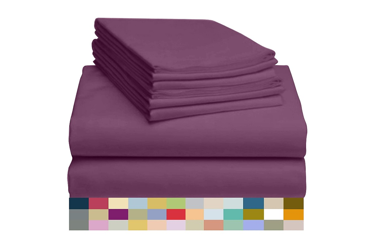 LuxClub 7 PC Sheet Set Bamboo Sheets Deep Pockets
