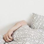 man sleep at Backpacking Pillow