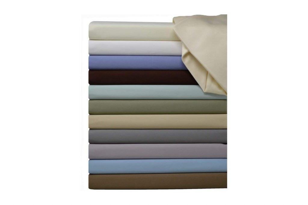 Royal Hotel Split-King: Adjustable King Bed Sheets 5PC Solid Black colors