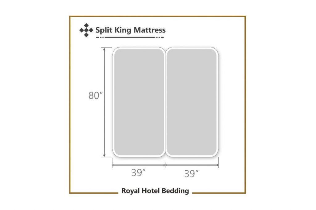 Royal Hotel Split-King: Adjustable King Bed Sheets 5PC Solid Black dimensions