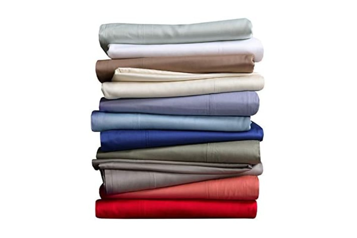 Royal Hotel Top-Split King: Adjustable Split Top King Periwinkle Bamboo Bed Sheets