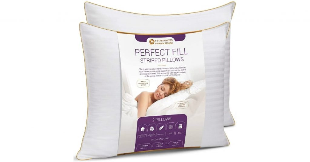 5 STARS UNITED King Size Bed Pillows