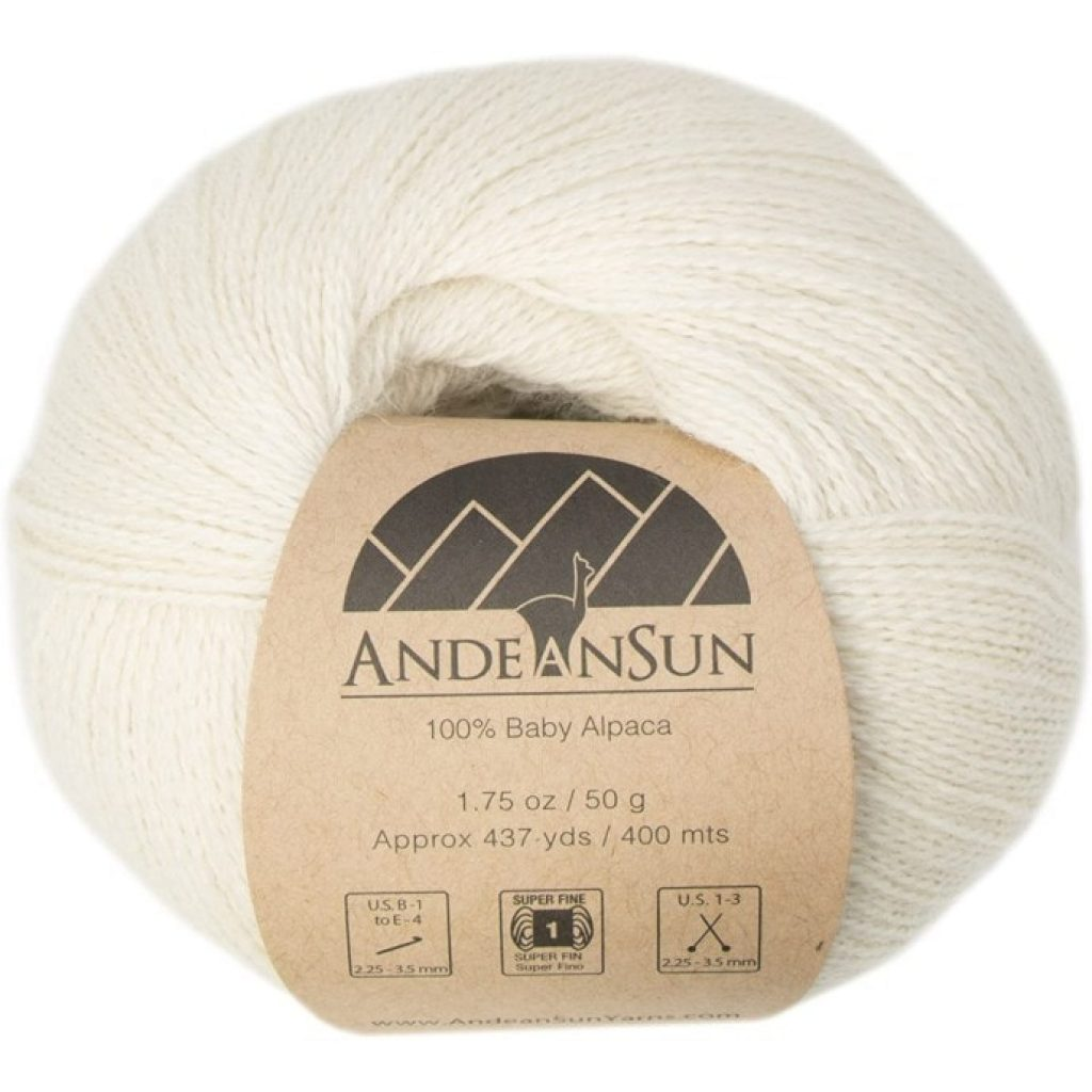(Set of 3) 100% Baby Alpaca Yarn Lace #1 one ball