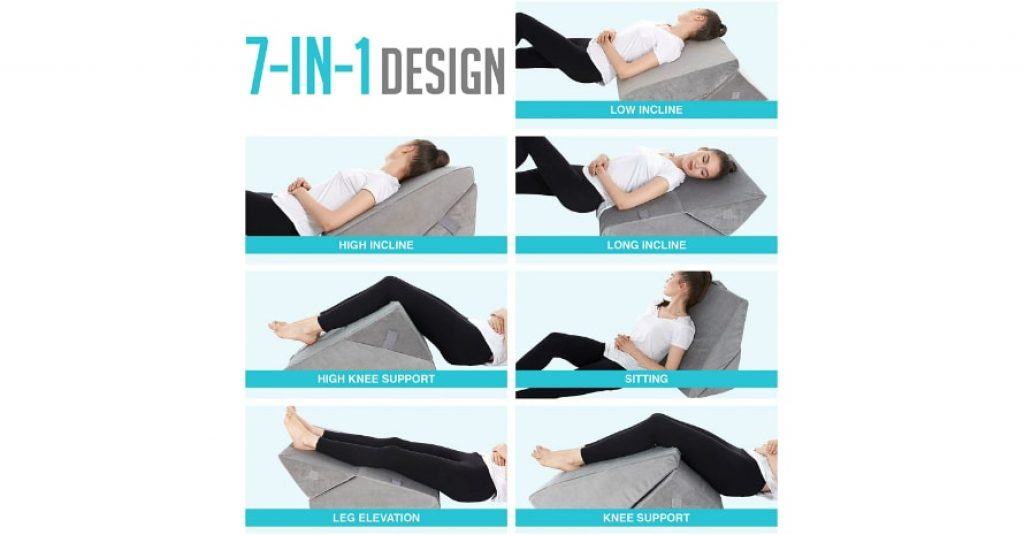 Bed Wedge Pillow 7 in 1