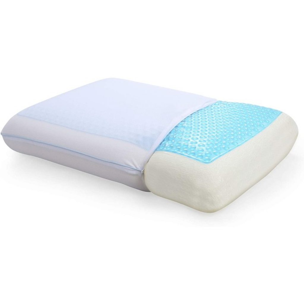 Classic Brands Reversible Gel Pillow, partly covered