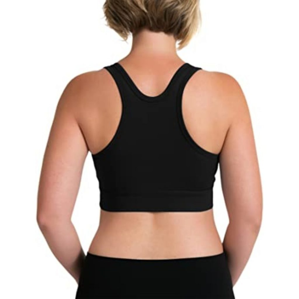 Kindred Bravely French Terry Racerback Nursing Sleep Bra view from behind
