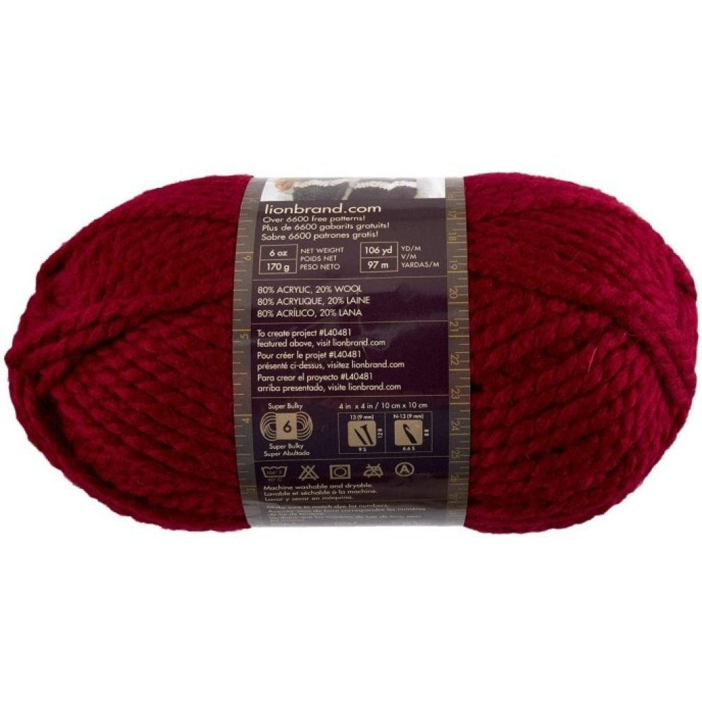 Lion 640-138 Wool-Ease Thick & Quick Yarn characteristics