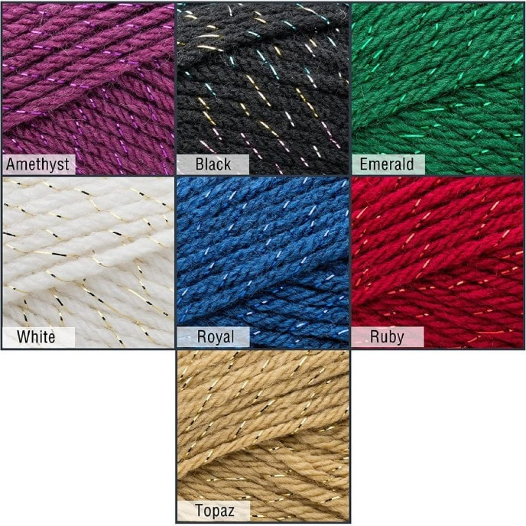 "Mary Maxim Starlette Sparkle Yarn ""Emerald"" alternative colors"