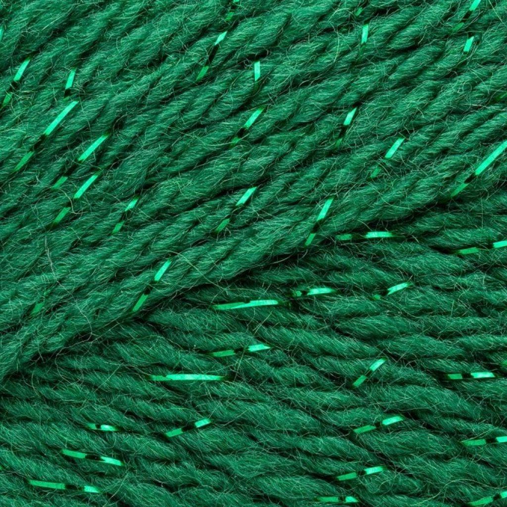 "Mary Maxim Starlette Sparkle Yarn ""Emerald"" texture"
