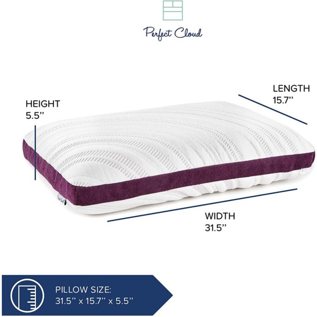 Perfect Cloud Lavender Bliss Pillow, dimensions