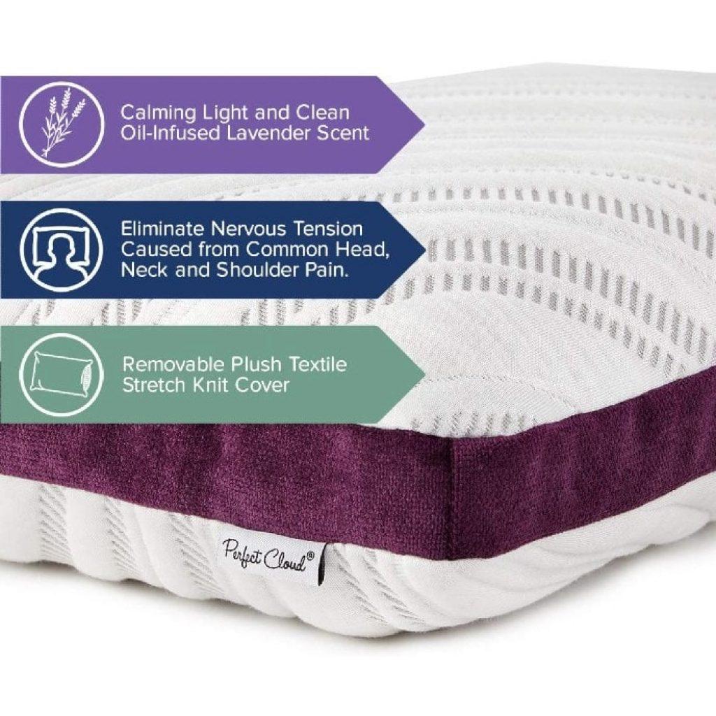 Perfect Cloud Lavender Bliss Pillow, features